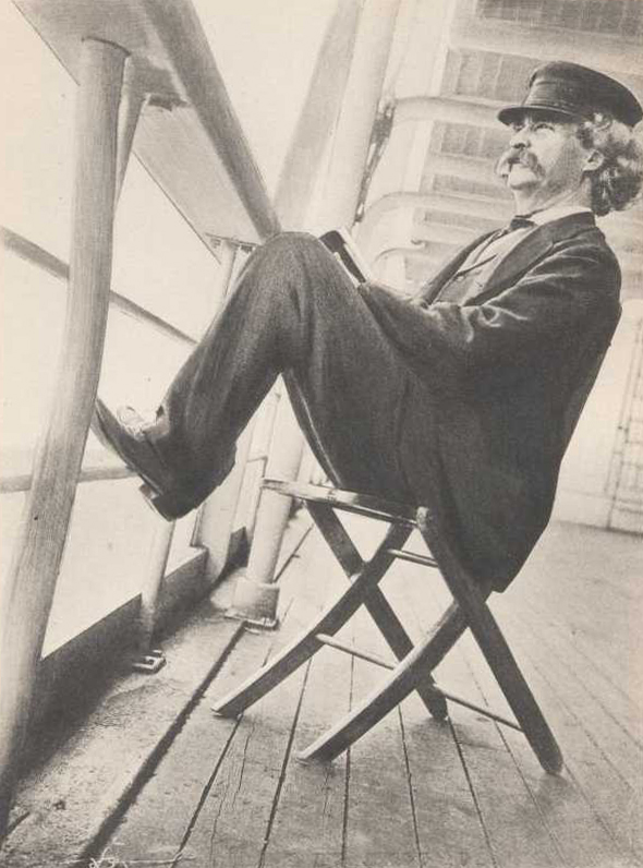 Mark Twain on Mississippi River